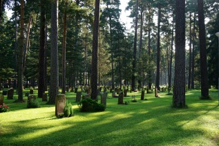 The Woodland Cemetery, an UNESCO World Heritage site. Stockholm, Sweden. August 2015.